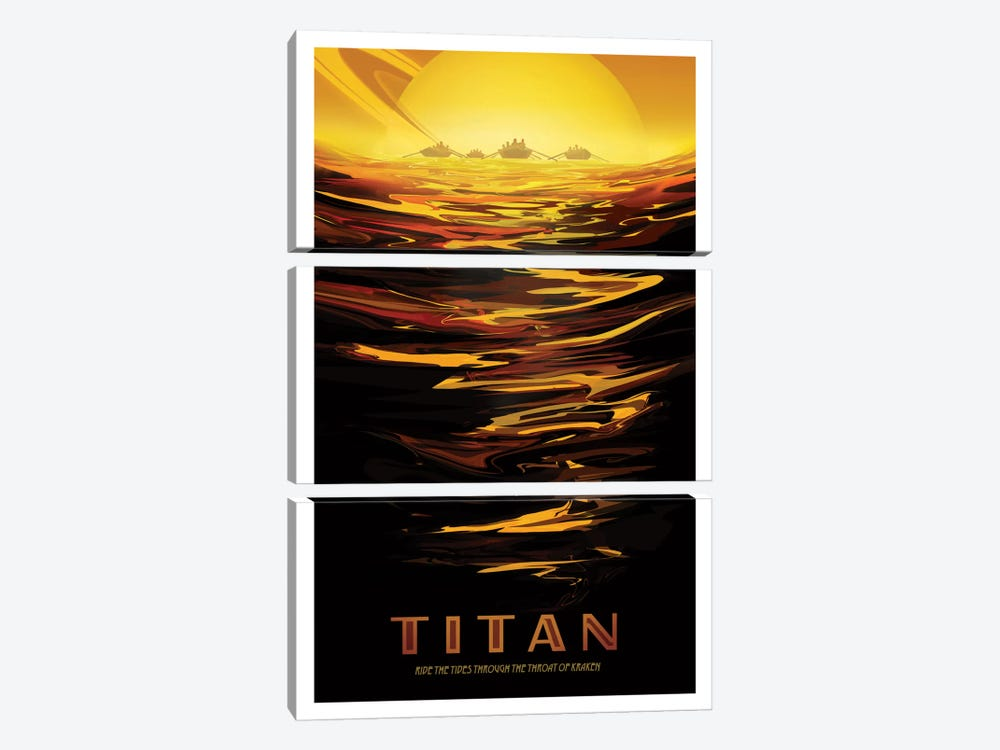 Visions Of The Future Series: Titan by NASA 3-piece Canvas Artwork