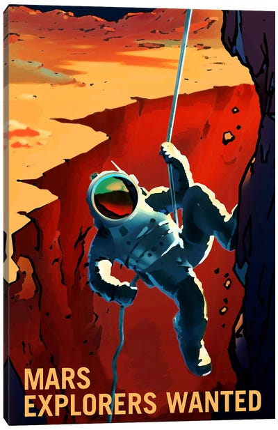 Mars Explorer Series: Explorers Wanted Canvas Art Print