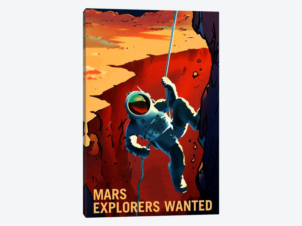 Explorers Wanted by NASA 1-piece Canvas Artwork