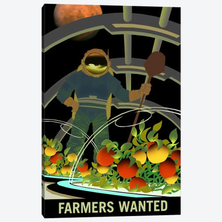 Mars Explorer Series: Farmers Wanted Canvas Print #NAS16} by NASA Canvas Art