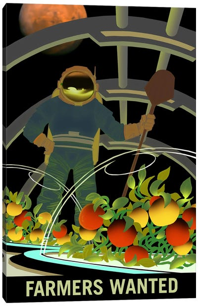 Mars Explorer Series: Farmers Wanted Canvas Art Print