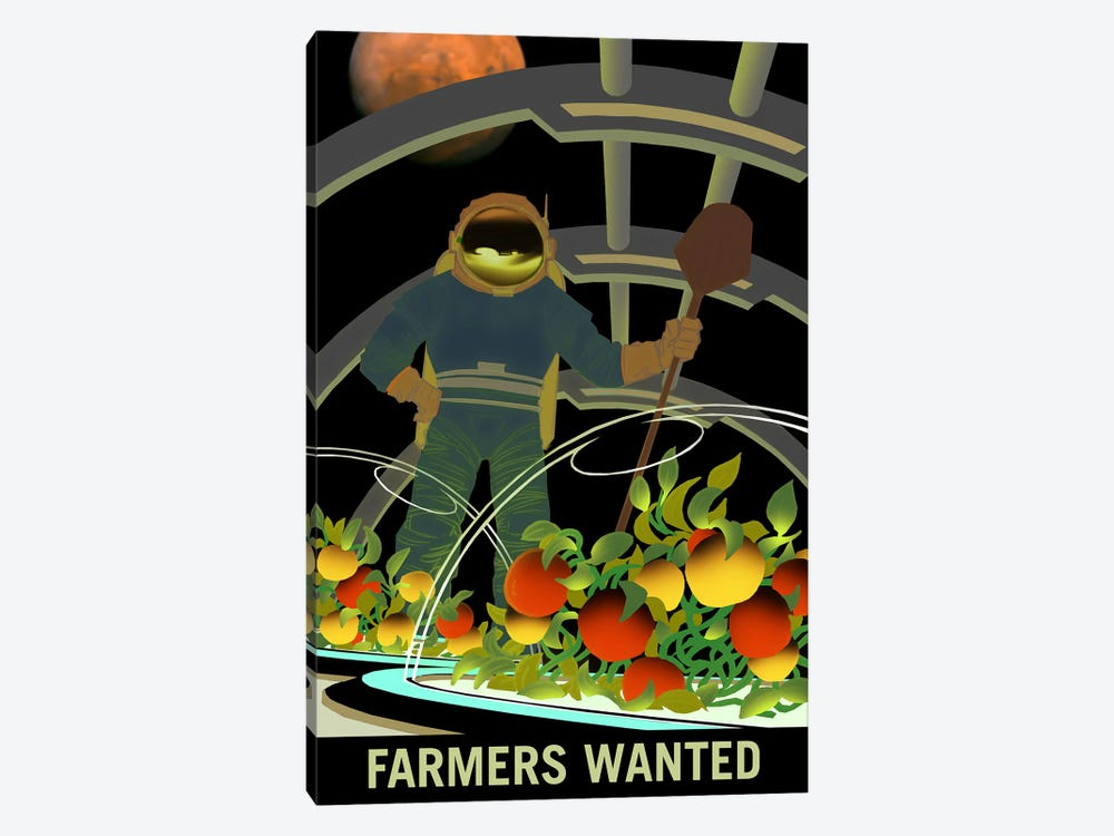 Farmers Wanted by NASA 1-piece Canvas Print