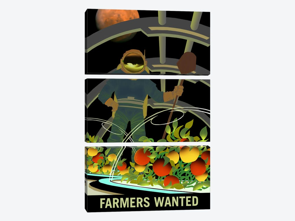 Farmers Wanted by NASA 3-piece Art Print