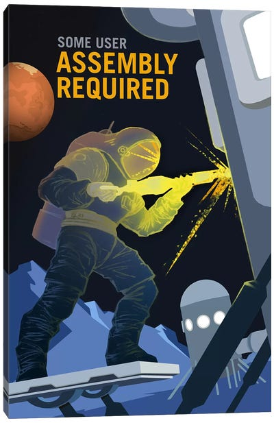 Some User Assembly Required Canvas Art Print