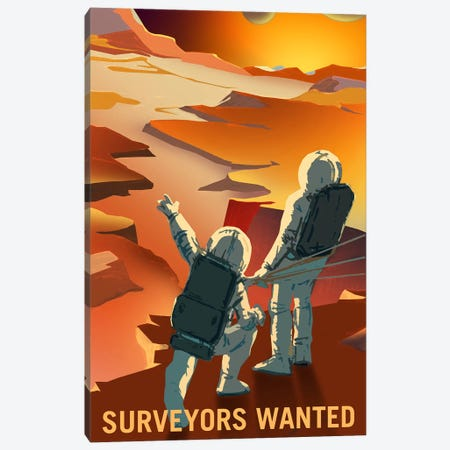 Surveyors Wanted Canvas Print #NAS18} by NASA Art Print