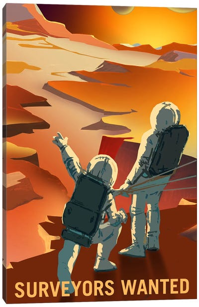 Surveyors Wanted Canvas Art Print