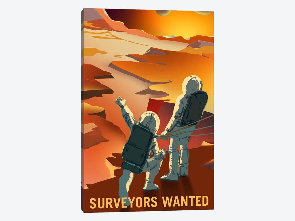Mars Explorer Series: Surveyors Wanted by NASA 1-piece Art Print