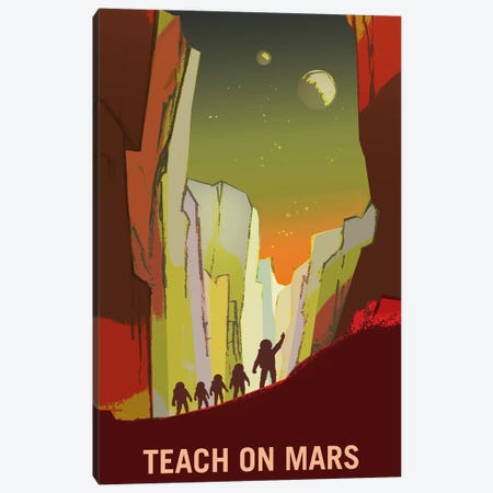 Teach On Mars Canvas Print #NAS19} by NASA Canvas Print