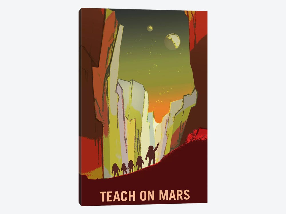 Teach On Mars by NASA 1-piece Canvas Artwork