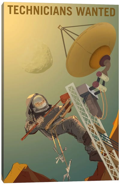 Mars Explorer Series: Technicians Wanted Canvas Art Print