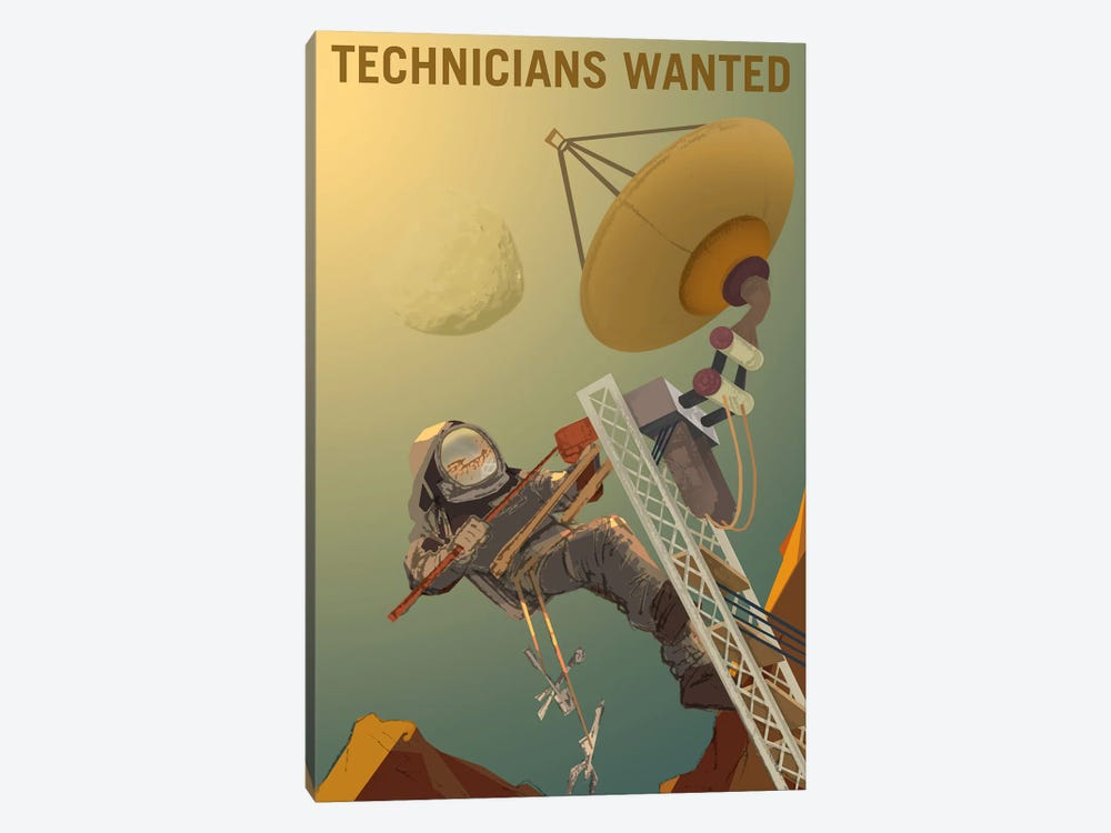 Technicians Wanted by NASA 1-piece Canvas Wall Art