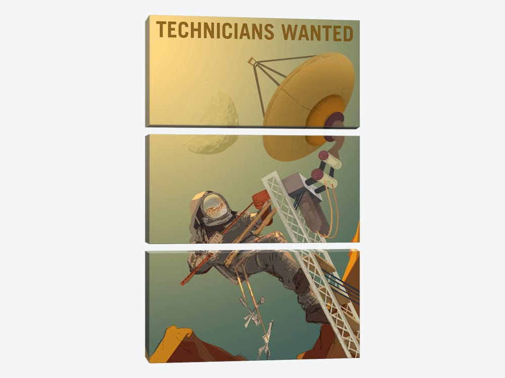 Technicians Wanted by NASA 3-piece Canvas Artwork
