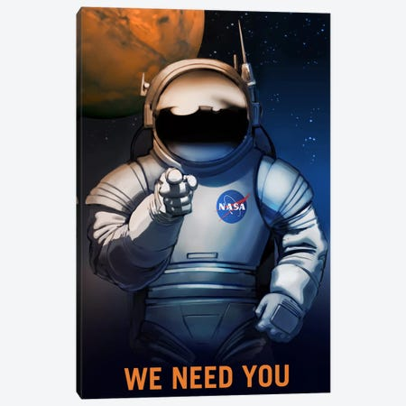 We Need You Canvas Print #NAS21} by NASA Canvas Wall Art