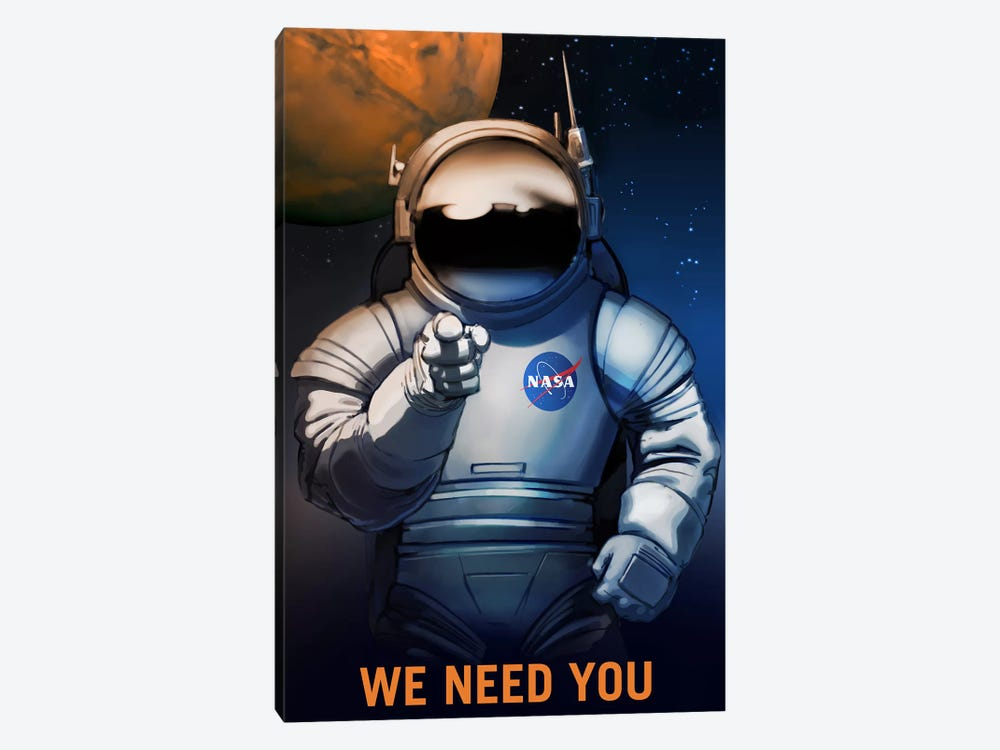 Mars Explorer Series: We Need You by NASA 1-piece Art Print