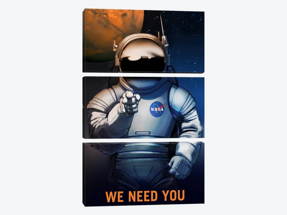 Mars Explorer Series: We Need You by NASA 3-piece Art Print
