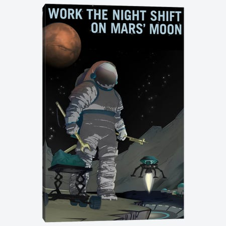 Work The Night Shift Canvas Print #NAS22} by NASA Canvas Artwork