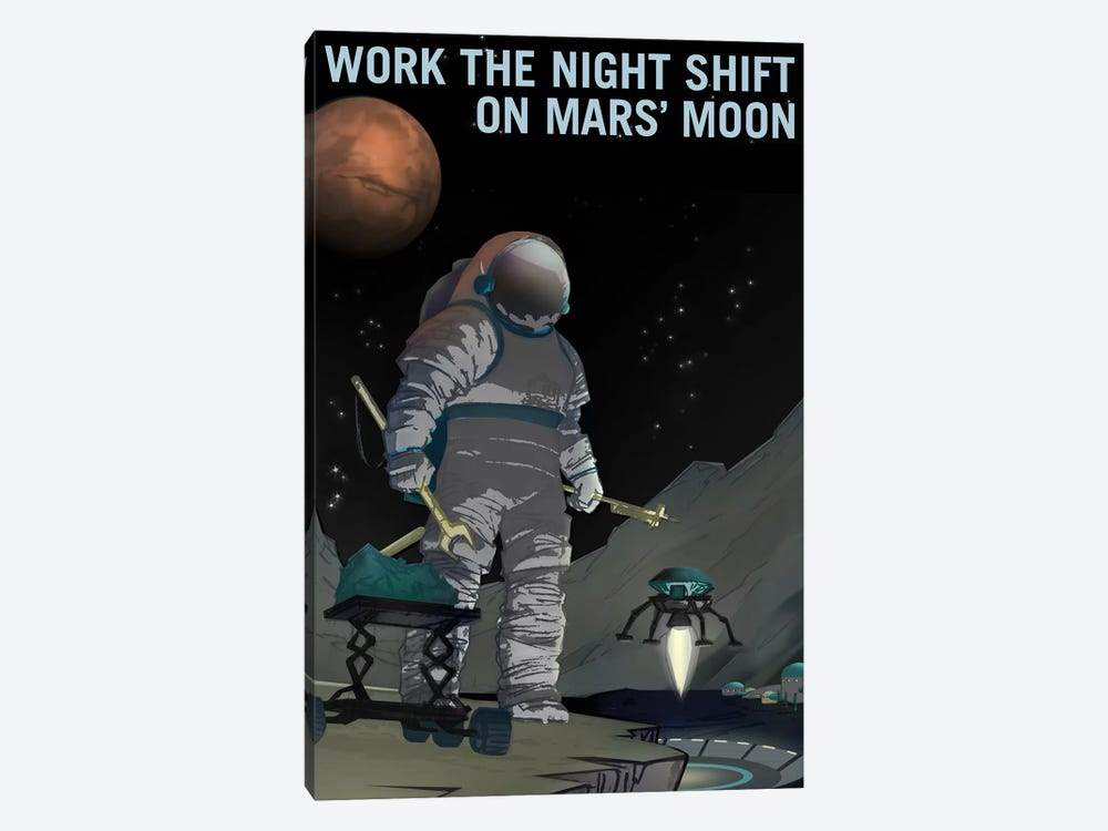 Work The Night Shift by NASA 1-piece Canvas Artwork