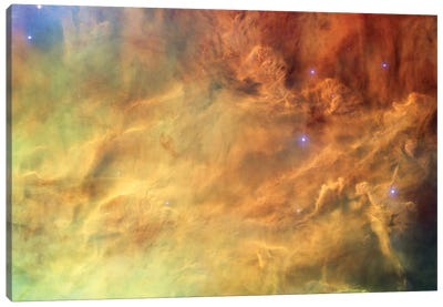 Breaking Gaseous Radiation Waves, Messier 8 (Lagoon Nebula) Canvas Art Print