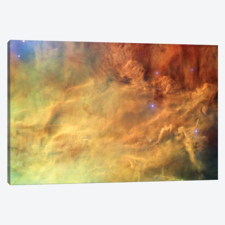 Breaking Gaseous Radiation Waves, Messier 8 (Lagoon Nebula) Canvas Print #NAS29} by NASA Canvas Wall Art