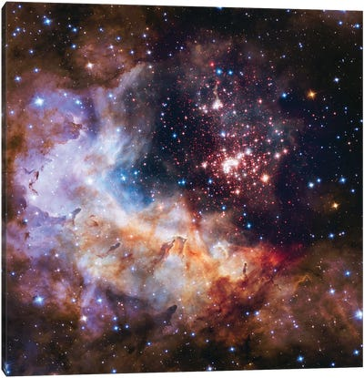 Celestial Fireworks, Westurland 2 (Hubble Space Telescope 25th Anniversary Image) Canvas Art Print