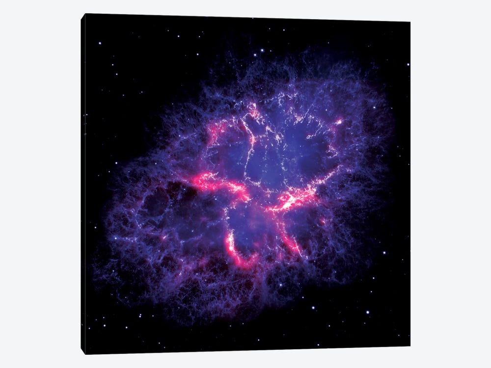 Composite View Of The Crab Nebula by NASA 1-piece Canvas Art Print