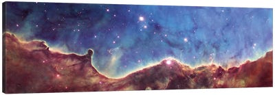 Cosmic Landscape, NGC 3324, NW Corner Of NGC 3372 (Carina Nebula) (Hubble Heritage Project 10th Anniversary Image) Canvas Art Print