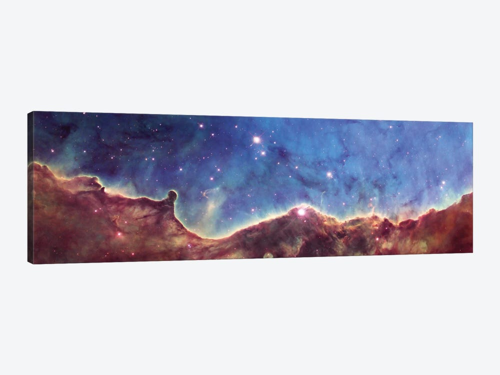 Cosmic Landscape, NGC 3324, NW Corner Of NGC 3372 (Carina Nebula) (Hubble Heritage Project 10th Anniversary Image) by NASA 1-piece Canvas Artwork