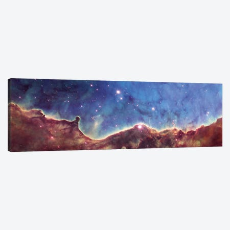 Cosmic Landscape, NGC 3324, NW Corner Of NGC 3372 (Carina Nebula) (Hubble Heritage Project 10th Anniversary Image) Canvas Print #NAS33} by NASA Canvas Art Print