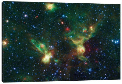 Enterprising Nebulae (IRAS 19340+2016 & IRAS19343+2026) Canvas Print #NAS35