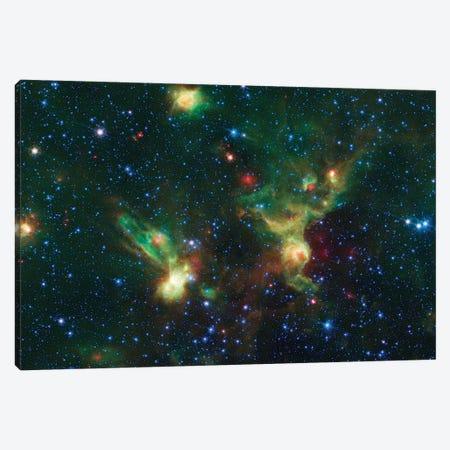 Enterprising Nebulae (IRAS 19340+2016 & IRAS19343+2026) Canvas Print #NAS35} by NASA Canvas Wall Art