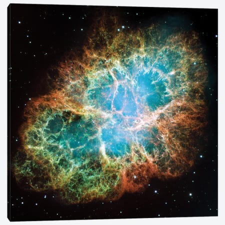 Extreme Detail, Crab Nebula, Messier 1 Canvas Print #NAS36} by NASA Canvas Art
