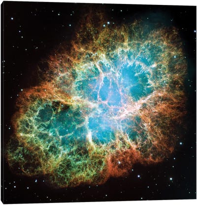 Extreme Detail, Crab Nebula, Messier 1 Canvas Art Print