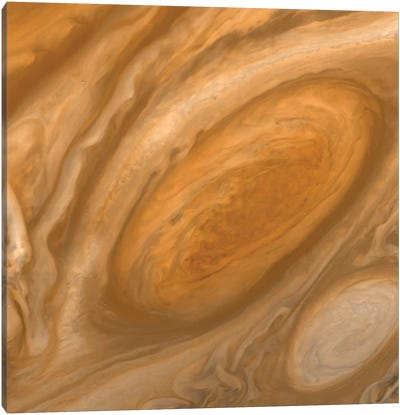 Jupiter's Great Red Spot Canvas Art Print