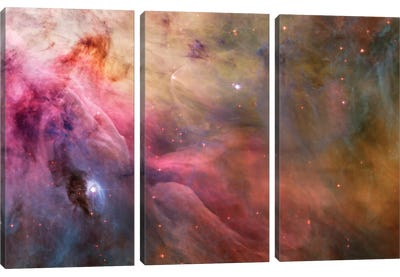 LL Orionis Interacting With the Orion Nebula Flow Canvas Art Print
