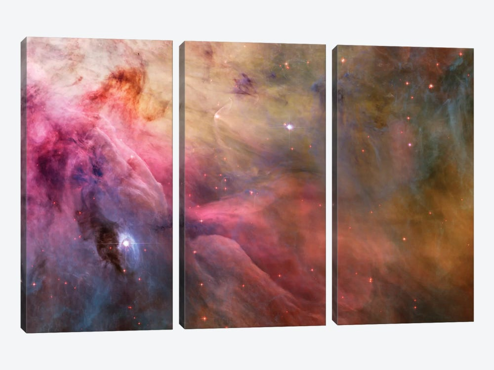LL Orionis Interacting With the Orion Nebula Flow by NASA 3-piece Canvas Artwork