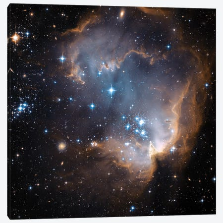 Newly Formed Stars, N90, NGC 602 Canvas Print #NAS41} by NASA Canvas Artwork