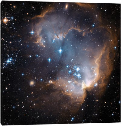Newly Formed Stars, N90, NGC 602 Canvas Art Print