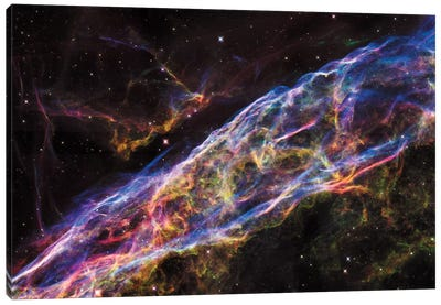 NGC 6960 (Witch's Broom Nebula), Veil Nebula, Cygnus Loop Canvas Print #NAS43