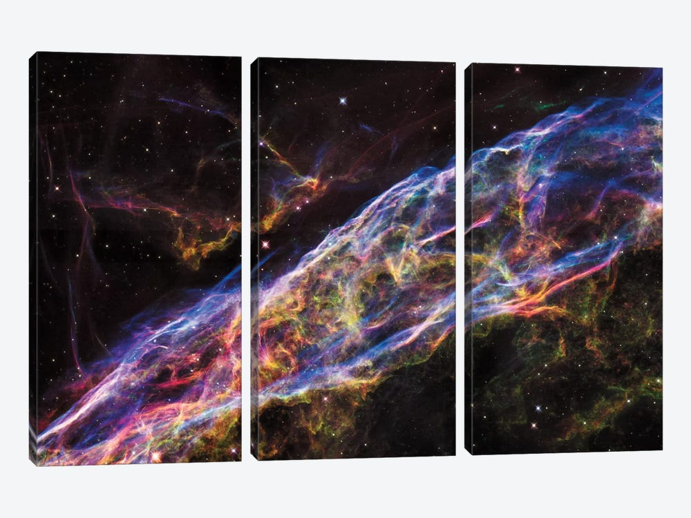 NGC 6960 (Witch's Broom Nebula), Veil Nebula, Cygnus Loop by NASA 3-piece Canvas Art Print