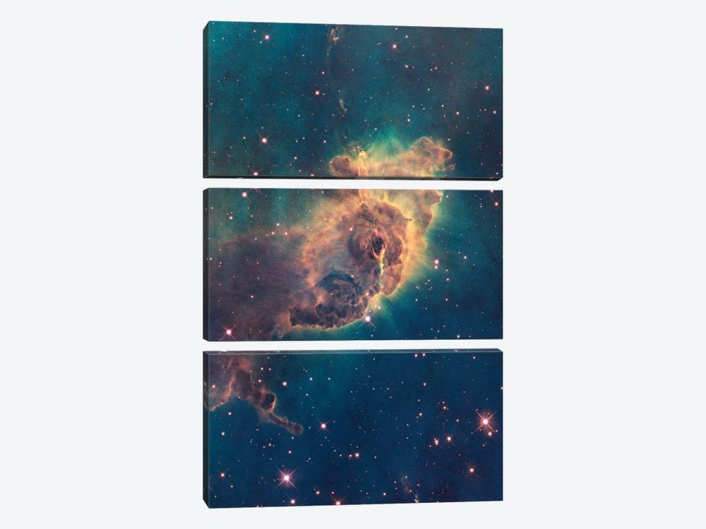 Pillar Of Gas, Carina Nebula by NASA 3-piece Canvas Art