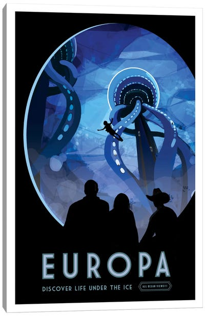 Visions Of The Future Series: Europa Canvas Print #NAS4