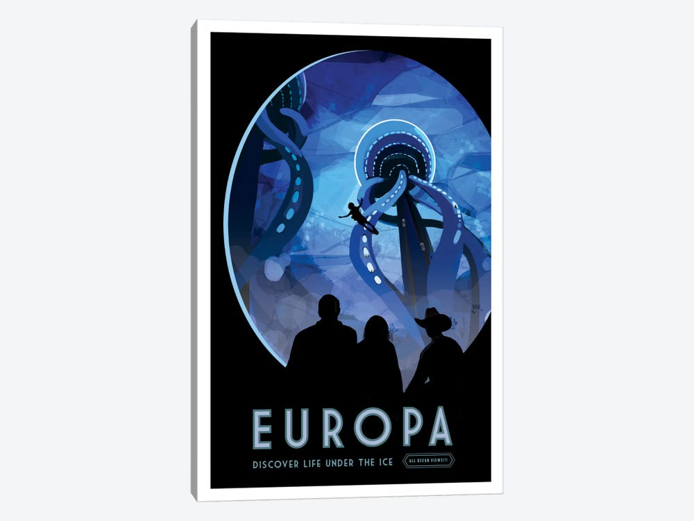 Visions Of The Future Series: Europa by NASA 1-piece Canvas Artwork