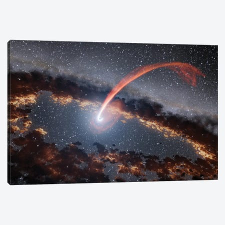 Tidal Disruption Flare (Illustration) Canvas Print #NAS53} by NASA Canvas Art Print