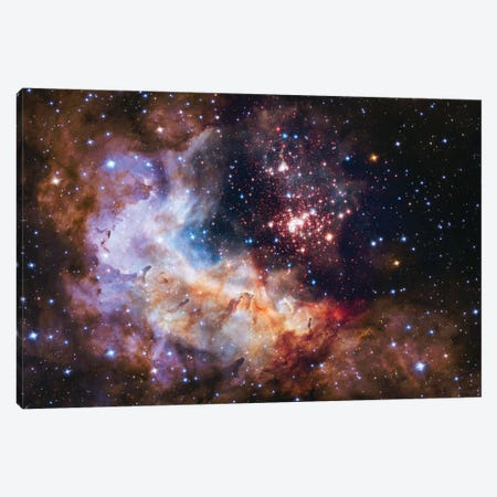 WR 20a And Surrounding Stars, Westerlund 2 Canvas Print #NAS54} by NASA Canvas Wall Art
