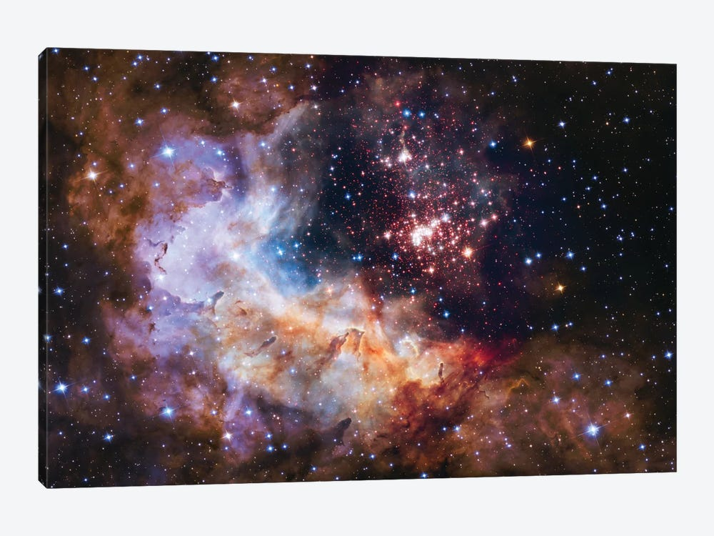 WR 20a And Surrounding Stars, Westerlund 2 by NASA 1-piece Art Print
