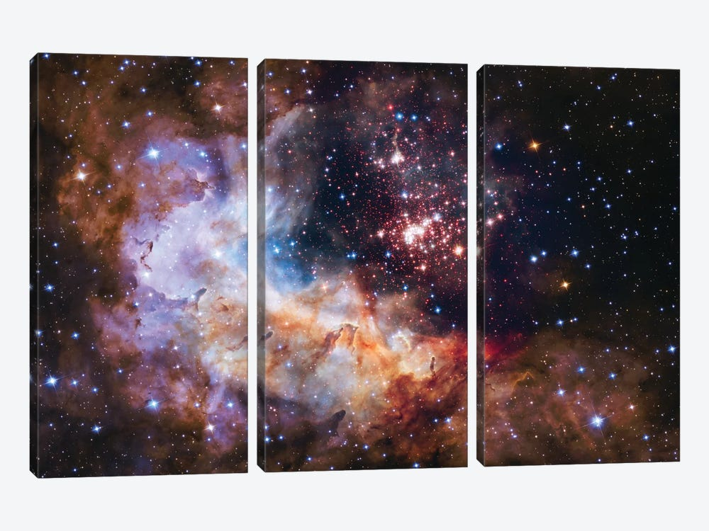 WR 20a And Surrounding Stars, Westerlund 2 by NASA 3-piece Canvas Print