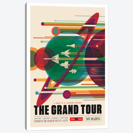 Visions Of The Future Series: The Grand Tour Canvas Print #NAS5} by NASA Canvas Wall Art