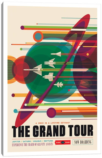 Visions Of The Future Series: The Grand Tour Canvas Art Print