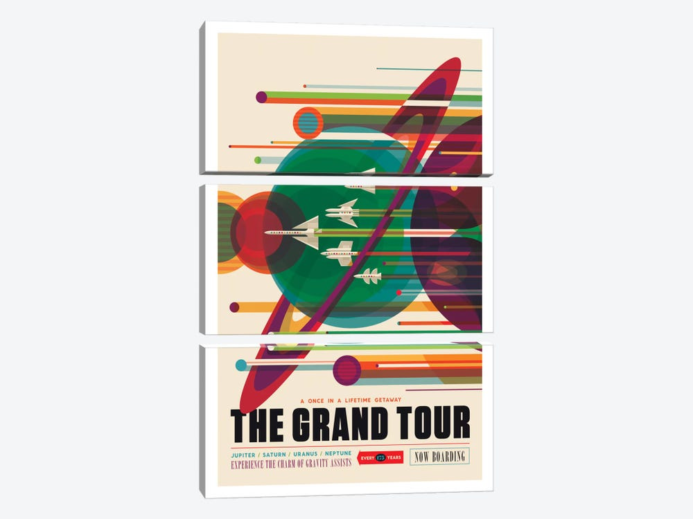 The Grand Tour by NASA 3-piece Canvas Art Print