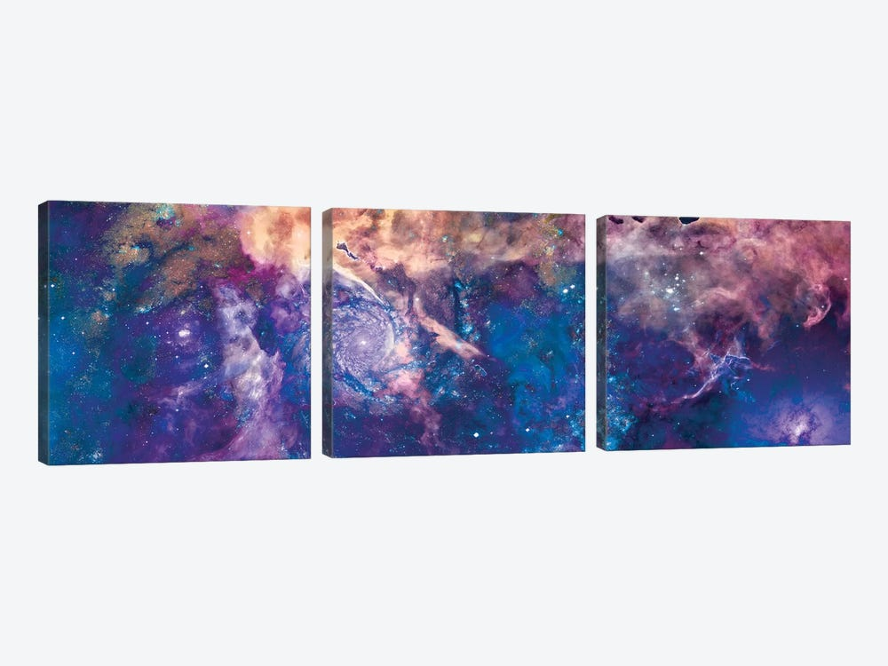 Royal Swirl by NASA 3-piece Canvas Artwork